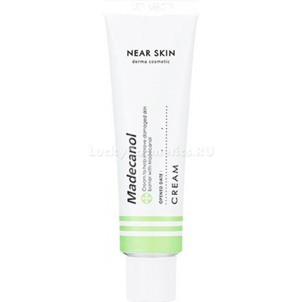 Missha Near Skin Madecanol CreamВосстанавливающий крем Madecanol создает защитный барьер против вредного воздействия окружающей среды, выравнивая тон кожи. Средство прекрасно подходит для каждодневного ухода за кожей лица.<br>Крем содержит комплекс растительных экстрактов и компонентов, оказывающий защитное и восстанавливающие действие  на клеточном уровне. Экстракт центеллы и пантенола выравнивают тон, влияя на кожный барьер изнутри. Выдержка из центеллы укрепляя защитные слои эпидермиса, а мадекассосид, входящий в состав, восстанавливает кожу после повреждений, стимулируя регенерацию травмированных участков.<br>Ингредиент KFDA и активный компонент ниацинамид отбеливают кожу лица, осветляя пигментированные участки. Гиппоаллергенная формула крема оказывает смягчающее воздействие на кожу лица, а само средство не содержит никаких синтетических отдушек и красителей.<br>Интенсивный комплекс Near Skin сочетает в себе восстанавливающие и защитное воздействие на чувствительную кожу. Средство хорошо подходит в качестве ухода на каждый день, поскольку впитывается, не оставляя после себя жирного блеска и ощущений липкости.Объём: 50 мл.Способ применения:Мягкими круговыми движениями нанести небольшое количество крема на предварительно очищенную кожу лица. Помассировать до полного впитывания средства.<br>