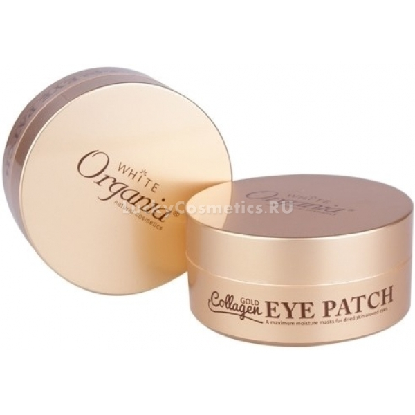 White Cospharm White Organia Gold Collagen Eye Patch