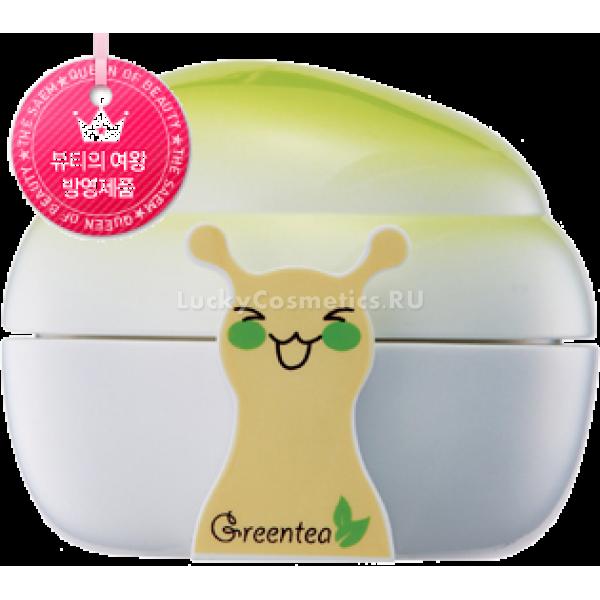 The Saem Snail Green Tea Sparkle Cream SPF  PAУвлажняющий крем от The Saem с экстрактом слизи улитки и зеленым чаем глубоко увлажняет, регенерирует и питает кожу, делая ее мягкой и шелковистой. Благодаря солнцезащитному фактору SPF 25 PA++ оберегает кожу от воздействия факторов окружающей среды и ультрафиолета, который приводит к преждевременному старению. Входящие в состав крема Snail Green Tea Sparkle Cream компоненты убирают воспаление, ускоряют естественные процессы регенерации на клеточном уровне, помогают поддерживать оптимальный водно-солевой баланс. Слизь улитки полностью восстанавливает поврежденные клетки, стимулирует выработку коллагена и эластина.<br><br>Основные действующие компоненты крема<br><br><br>Экстракт слизи улитки или муцин. Обладает высочайшими регенерирующими свойствами за счет того, что содержит огромное количество необходимых для кожи аминокислот. Мицин не просто заживляет, а полностью регенерирует и восстанавливает поврежденные клетки кожи. Кроме того, в слизи улитки содержатся протеогликаны &amp;ndash; вещества, способствующие синтезу коллагена и эластина. В результате кожа становится подтянутой и отдохнувшей.<br>Экстракт зеленого чая. Этот уникальный экстракт способствует выведению токсинов, является мощным антиоксидантом и убирает сухость кожи. Отдельного внимания заслуживают полифенолы &amp;ndash; вещества, которые гораздо эффективнее борются со свободными радикалами, чем всем известный витамин молодости &amp;ndash; витамин Е. Они способствуют лучшему проникновению в кожу питательных веществ и микроэлементов. Кофеин, которого в зеленом чае содержится намного больше, чем в кофе, улучшает питание кожи за счет усиления микроциркуляции крови в тканях. Зеленый чай снабжает кожу кислородом и усиливает кровообращение. Дубильные вещества в составе чайного экстракта выполняют функцию защитной пленки, что предохраняет кожный покров от губительных факторов окружающей среды, которые ускоряет процессы старения.<br>Ниацинамид, более известный как ви