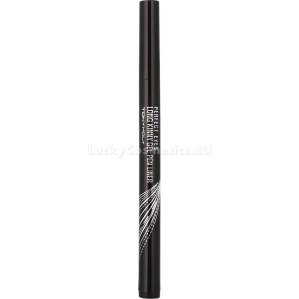 Tony Moly Perfect Eyes Longkinny Gel pen LinerГелевая подводка Perfect Eyes Longkinny Gel pen Liner 2 &amp;ndash; это тонкие, четкие стрелки, которые украсят Ваши веки и сделают взгляд более выразительным и привлекательным. С помощью подводки для глаз можно дополнить любой образ, создать идеальный вечерний или натуральный макияж, который продержится в течении всего дня.<br><br>Подводка для макияжа глаз от Tony Moly:<br><br><br>легко наносится<br>мягко ложится на кожу век<br>быстро сохнет<br>не размазывается<br>не растекается<br>не осыпается<br>обладает высокими влагостойкими качествами<br>держится в течении всего дня.<br><br><br>Средство снабжено тонкой и невероятно гибкой кисточкой, которая обеспечивает ровную, четкую линию, придавая глазам выразительность и желаемую форму одним движением. Подводка имеет насыщенный цвет и обладает приятной бархатистой структурой. Средство обладает жиростойкими и влагостойкими качествами, благодаря чему подводка будет держаться целый день.<br><br>Подводка Perfect Eyes Longkinny Gel pen Liner 2 легко наносится, мягко ложится, позволяет наносить ровные линии, которые без труда получатся даже у новичков в рисовании стрелок.<br><br>Средство легко смывается теплой водой.<br><br>&amp;nbsp;<br><br>Объём: 0,6 гр.<br><br>Способ применения:<br><br>Нанесите подводку легкими, аккуратными движениями, вдоль роста ресниц. Для придания выразительности глазам или их зрительного увеличения, проведите длинную линию со стрелкой в конце глаз.<br>