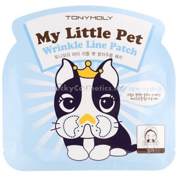 Tony Moly My Little Pet Wrinkle Line PatchПатчи Tony Moly используются для ухода за носогубной областью, они необходимы для восстановления кожи в интенсивном режиме и ее подтяжки. Патчи пропитаны специальным средством, которое моментально проникает в глубокие слои кожи, способствует быстрому восстановлению клеток, стимулирует выработку коллагена и укрепляет ее изнутри, все это благотворно влияет на общее состояние кожи &amp;ndash; ей возвращается упругости и эластичность.<br>В маске My Little Pet Wrinkle Line Patch содержится множество питательных веществ:<br>&amp;bull; экстракты розы, зеленого чая и пиона &amp;ndash; успокаивают и витаминизируют кожу<br>&amp;bull; коллаген &amp;ndash; возвращает подтянутость коже, наполняет ее влагой, благодаря ему, влага надолго сохраняется в подкожной прослойке.<br>&amp;bull; аденозин &amp;ndash; аминокислота, &amp;nbsp;способствует синтезу коллагена, улучшает циркуляцию крови.&amp;nbsp;<br>&amp;bull; экстракт грейпфрута обладает антиоксидантным свойством, поддерживает эластичность, проницаемость и структуру сосудов<br>&amp;bull; масло сафлоры позволяет удержать влагу в коже, быстро впитывается и моментально усваивается.<br><br>Объём: 5 грамм<br><br>Способ применения:<br><br>Откройте упаковку, снимите защитную пленку, извлеките маску-патч и нанесите ее на чистую кожу. Прижмите как можно плотнее, аккуратными движениями разгладьте и оставьте на 30 минут. После снимите маску, оставшееся средство легонько, массирующими движениями вотрите в кожу.<br>