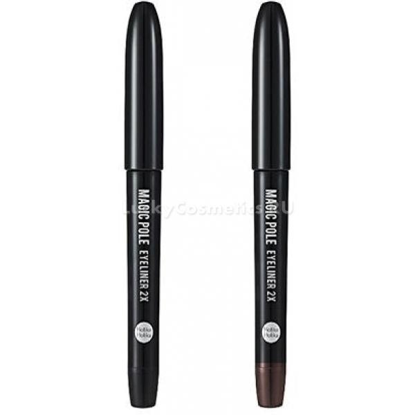 Holika Holika Magic Pole Eye Liner XПодводка от корейского косметического бренда Holika Holika обеспечит вам идеальный стойкий макияж глаз. Лайнер выполнен в форме фломастера, на конце которого имеется небольшой шарик. Эта особенность подводки позволяет легко нарисовать одинаковые аккуратные стрелочки, придавать глазам соблазнительную миндалевидную форму и выразительность.<br><br>Даже линии, нарисованные, начиная с внешнего уголка глаза, будут получаться безупречно ровными. Подводка бережно скользит по веку, не растягивая и не царапая его.<br><br>В составе формулы продукта содержатся безопасные вещества. Подводка отличается не только непревзойденной стойкостью, но и не вызывает раздражения на чувствительной коже век.<br><br>В результате нанесения получается насыщенный оттенок, который сохраняется на протяжении всего дня. Средство легко смывается при помощи демакияжа для глаз. Также для снятия макияжа можно использовать просто воду. Плотный колпачок подводки предупреждает ее высыхание. Чтобы увеличить стойкость подводки в жаркую погоду, рекомендуется использовать матирующий праймер.<br><br>&amp;nbsp;<br><br>Объём: 1 г<br><br>&amp;nbsp;<br><br>Способ применения:<br><br>Перед нанесением подводки ее флакон нужно несколько раз встряхнуть. Легким движением нарисовать стрелочки.<br>