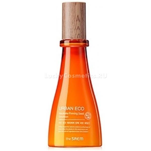 The Saem Urban Eco Harakeke Firming Seed EmulsionЭмульсия от корейского производителя косметики The Saem изготовлена на основе новозеландского льна. Экстракт этого ценного растения благоприятно влияет на кожу, обладает укрепляющим и восстанавливающим действием.<br><br>Средство призвано глубоко напитать и увлажнить кожу. Оно стимулирует синтез эластина и коллагена, обновляет дерму на клеточном уровне. После его применения кожа приобретает ухоженный внешний вид, упругость и гладкость. Эмульсия деликатно разглаживает небольшие морщины и возвращает лицу здоровый цвет.<br><br>Главный действующий компонент широко используется в косметологии для лечения воспалений и ранок. Его антибактериальное действие способствует скорейшему заживлению кожи. Также в составе средства содержатся экстракты меда, календулы, аденозин. Эти ингредиенты, работая в комплексе, обеспечивают идеальный уход за кожей. Так, они нормализуют выработку кожного сала при проблемной и жирной коже лица, увлажняют и тонизируют нормальный и сухой тип кожи.<br><br>Регулярное использование эмульсии замедляет старение кожи, делает ее более светлой и выравнивает микрорельеф. Продукт обладает нежнейшей консистенцией, которая не оставляет после себя ощущения жирности или липкости.Объём: 140 млСпособ применения:Нанести эмульсию на чистую кожу лица похлопывающими движениями.<br>