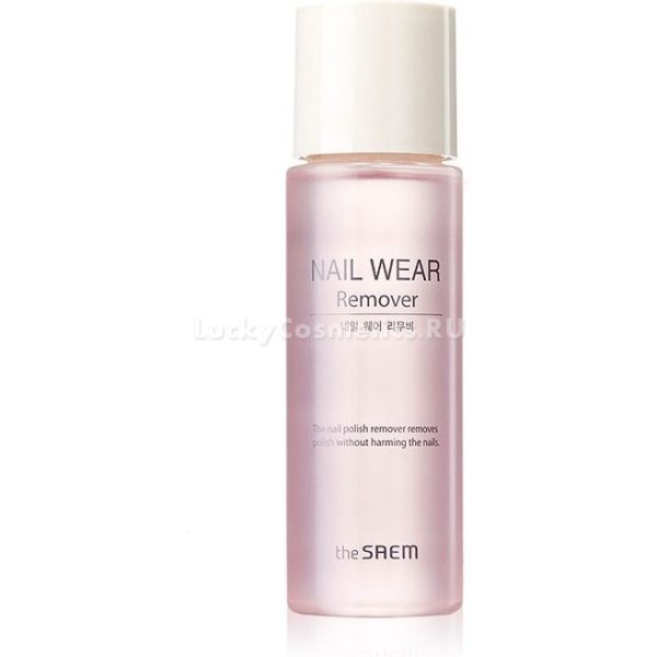The Saem Nail Wear RemoverЖидкость для снятия лака Nail Wear Remover эффективно очищает поверхность ногтя. Она безопасна для ногтевой пластины благодаря своему составу. Удаление происходит максимально бережно. Состав жидкости подобран так, чтобы исключить риск пересушивания кутикулы. Таким образом, жидкость решает проблему с появлением заусениц.<br><br>Наличие витамина Е позволяет смеси питать ногтевую пластину. Он также является антиоксидантом и защищает поверхность от негативных воздействий, укрепляет её.<br><br>В состав также были включены масло шиповника и натуральный березовый сок. Благодаря такому решения удалось сделать жидкость не просто безопасной, но питательной и увлажняющей. Она стимулирует рост крепких ногтей, оздоравливает их и хранит от расслоения, исключает ломкость.<br><br>&amp;nbsp;<br><br>Объём: 100 мл<br><br>&amp;nbsp;<br><br>Способ применения:<br><br>Намочить ватный тампон с помощью жидкости. Затем удалить лак с ногтя, используя продольные движения. Лак удаляется по направлению к краю от кутикул.<br>