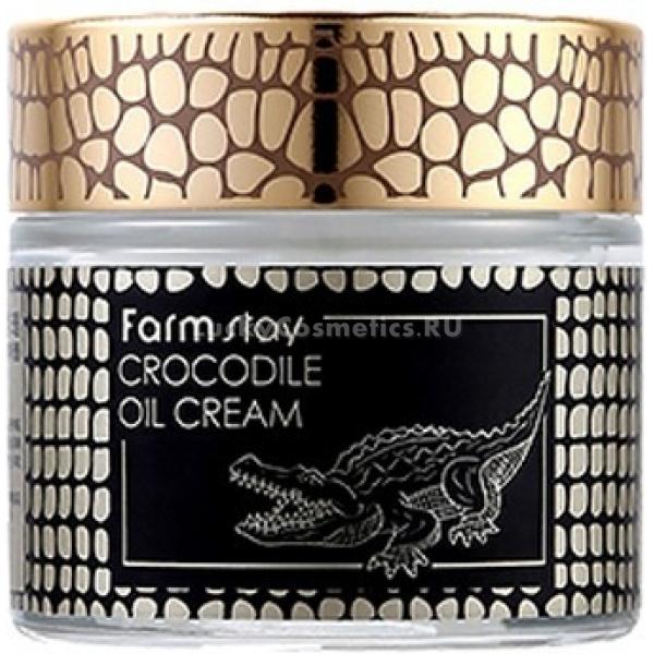 FarmStay Crocodile Oil CreamВсе в природе создано в гармонии друг с другом. Именно от природы мы черпаем силы и энергию, поддерживаем свое здоровье и красоту. В этот раз косметологи компании FarmStay призвали на помощь грозных крокодилов, которые делятся с нами частичкой своей мощи и жизненной силы. Крокодилий жир - уникальный компонент, стремительно восстанавливающий ткани при повреждениях и различных воспалениях. Он-то и помогает крокодилам очень быстро восстановиться, заживить раны и вновь выйти на охоту. Для нашей кожи крокодилий жир невероятно полезен, поскольку оказывает сильнейшее укрепляющее клетки действие, стимулирует их рост и обеспечивает омолаживающий эффект. Он борется с вирусами, бактериями и грибками, устраняет повреждения, заживляет ранки и ликвидирует воспалительные очаги. Является ценным источником омега6-кислот, которые нормализуют обмен веществ внутри тканей, защищают клетки от всевозможных повреждений и запускают клеточное обновление. Крем с крокодильим жиром - незаменимое средство в борьбе со старением, ведь он возвращает коже потерянную упругость, препятствует вялости и обвисанию. С ним ваша кожа вновь обретет силу и блистательную красоту, вновь будет выглядеть молодой и неизменно свежей.<br><br>&amp;nbsp;<br><br>Объём: 70 мл<br><br>&amp;nbsp;<br><br>Способ применения:<br><br>Нанести крем на кожу лица в качестве завершающего уходового средства.<br>