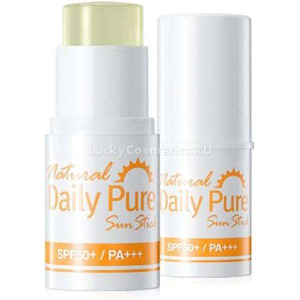 Secret Key Natural Daily Pure Sun Stick SPF  PAСолнцезащитный крем в форме удобного стика &amp;ndash; средство, которым можно воспользоваться в любой момент. Не нужно пачкать руки или дожидаться, пока состав впитается, как при применении обычного аналога из тюбика. Крем-стик бережно защищает самую нежную кожу от внешнего воздействия. Он предназначен для нанесения на наиболее чувствительные зоны, к которым в первую очередь относятся участки кожи вокруг глаз. Удобство и простота нанесения &amp;ndash; залог соблюдения гигиены на высшем уровне.<br><br>Несмотря на крайнюю лёгкость текстуры и тонкость слоя, средство надёжно защитит поверхность от ультрафиолетовых лучшей. Покраснения и высыпания сводятся к нулю. Кроме того, останавливается процесс фотостарения. Обладает крем и ухаживающими функциями: он удерживает в клетках влагу, а также успокаивает кожу, минимизирует раздражения и ликвидирует зуд.<br><br>Экстракты разных типов чая, ромашка и гибискус обеспечивают эффект заживления микроранок и питания кожи. Натуральные компоненты растительного происхождения также витаминизируют ткани.<br><br>&amp;nbsp;<br><br>Объём: 6 г<br><br>&amp;nbsp;<br><br>Способ применения:<br><br>Нанести на нужные участки кожи непосредственно перед выходом на улицу в солнечную погоду. Обновлять слой, если будет чувствоваться сухость или жжение. Можно использовать поверх декоративной косметики.<br>