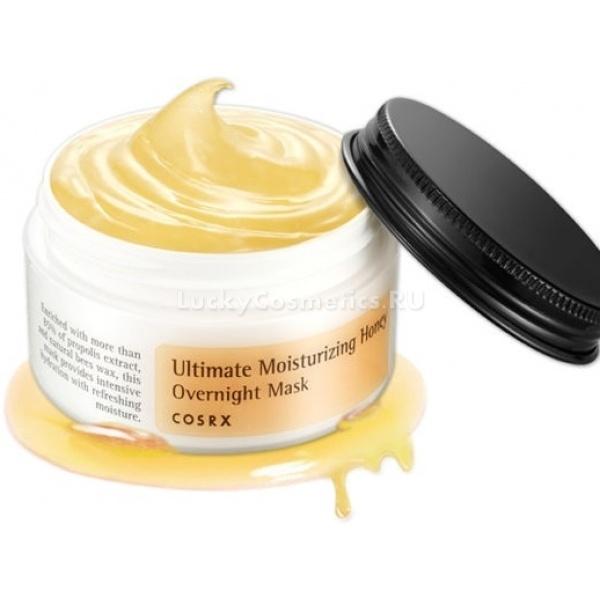 CosRX Ultimate Moisturizing Honey Overnight MaskМаска CosRX на основе прополиса и пчелиного воска интенсивно увлажняет кожу и способствует ее заживлению, разглаживанию морщин. Лучше всего использовать Ultimate Honey Overnight Mask на ночь &amp;ndash; при длительном воздействии полезные компоненты прополиса лучше проникают в кожу, избавляя ее от отеков, заломов и припухлостей.<br><br>Прополис обладает антисептическими свойствами, незаменимыми для кожи, склонной к высыпаниям. Пчелиный воск разглаживает ее микрорельеф, восстанавливает гидробаланс и предотвращает старение и преждевременные морщины, которые могут возникать из-за обезвоживания. Дополнительное увлажнение достигается за счет популярного компонента &amp;ndash; гиалуроновой кислоты, что позволяет использовать маску не только для ночного ухода, но и в качестве дневного крема.<br><br>Другие компоненты средства &amp;ndash; аденозин и пантенол &amp;ndash; защищают кожу от термических повреждений и фотостарения, аллантоин стимулирует рост новых клеток и разглаживание морщин.<br><br>&amp;nbsp;<br><br>Объём: 50 мл<br><br>&amp;nbsp;<br><br>Способ применения:<br><br>На чистую кожу после умывания равномерным слоем накладывают маску, продвигаясь вдоль массажных линий. Смывать ее необязательно, она работает как слипинг-пак &amp;ndash; восстанавливает вашу кожу пока вы спите, при этом не забивая поры.<br>