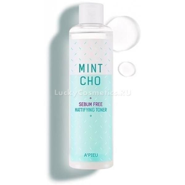 APieu Mintcho Sebum Free Mattifying TonerMintcho Sebum Free Mattifying Toner идеален для жирной кожи. Регулируя работу сальных желез, он облегчает клеточное дыхание, стимулирует процессы обновления, оздоравливает и улучшает внешний вид кожных покровов. Тонер устраняет жирный блеск, но не пересушивает и не раздражает эпидермис, сохраняет его оптимальный гидро-липидный баланс и защитные свойства.<br><br>Главный активный компонент средства &amp;minus; Mintcho &amp;minus; раствор экстракта яблочной мяты и уксуса. Он удаляет излишки себума и ороговевших частичек эпителия, освежает, укрепляет, выравнивает кожу, повышает ее эластичность и мягкость.<br><br>Экстракт сливы какаду снижает отрицательное влияние ультрафиолета и токсичных веществ, оседающих на кожу из загрязненного воздуха. Он восполняет недостаток влаги и витаминизирует клетки.<br><br>Зеленая глина оказывает антибактериальное действие, абсорбирует кожный жир и нормализует его производство, смягчает огрубевшие участки эпидермиса.<br><br>&amp;nbsp;<br><br>Объём: 245 мл<br><br>&amp;nbsp;<br><br>Способ применения:<br><br>Энергично встряхнуть флакон и нанести его на хлопковую салфетку или диск, протереть кожу лица.<br>
