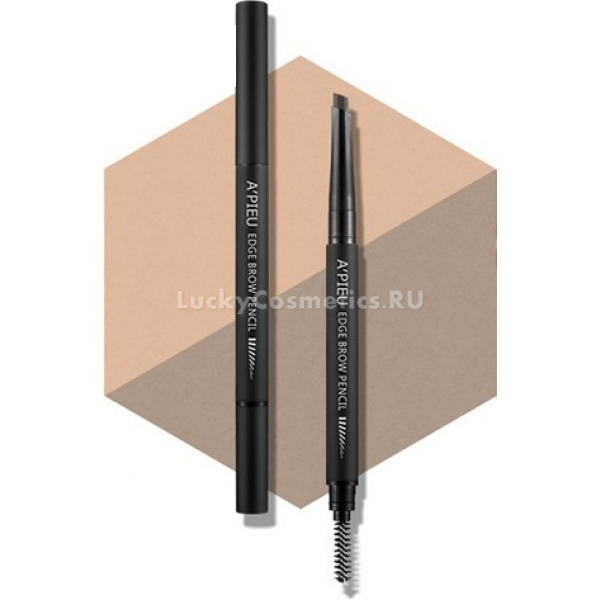 APieu Edge Brow PencilEdge Brow Pencil от APieu ? это все, что нужно для идеального макияжа бровей. Он обеспечивает стойкий, максимально естественный оттенок, удобство нанесения и моделирования, бережную заботу о коже и волосках.<br>Стержень с шестью гранями позволяет добиться мягкой, аккуратной линии. Его плотная структура не размазывается, не расплывается, с ее помощью легко регулировать плотность и насыщенность цвета.<br>Щеточка на обратном конце карандаша придает волоскам нужное направление, приглаживает их и распределяет красящий пигмент. Edge Brow Pencil оборудован также специальной точилкой, подходящей для нестандартной формы стержня.<br>Карандаш предлагается в пяти коричневых цветах с оттенками Light, Medium, Dark, Gray, Red. Обладательницам разного цветотипа среди них можно выбрать наиболее естественный вариант.<br>Кроме декоративной функции карандаш обладает ухаживающей. Он содержит масла жожоба и авокадо, богатые ненасыщенными жирными кислотами и витаминами. Они питают и смягчают брови, улучшают их рост и контролируют выпадение волосков.Объём: 0,35 грСпособ применения:Провести карандашом по бровной линии, расчесать волоски щеточкой. При необходимости придать стержню желаемую форму с помощью точилки.<br>