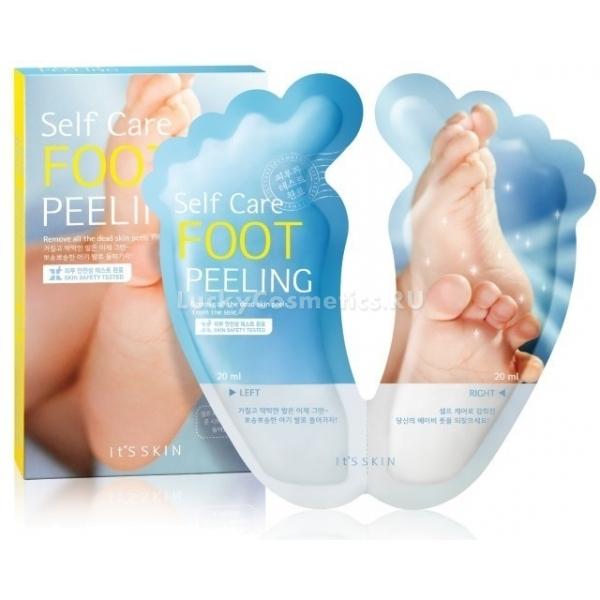 Its Skin Self Care Foot PeelingПилинг-носочки способен восстановить эластичность кожи ступней ног, увлажнить ее уже после первого применения. Процедура с данным высокоэффективным продуктом стимулирует процессы обновления клеток кожи, избавляя от ороговевших участков, сухости, мозолей. Имея очень удобную в использовании форму носочков, маска способна насыщать своими ценными компонентами даже самые труднодоступные места на ногах. Вещества Self Peeling проникают вглубь эпидермиса, где интенсивно питают, увлажняют клетки кожи.<br>В набор Care Foot входит одна пара носочков и два пакетика с жидкостью, содержащей<br>комплекс кислот, растворяющих ороговевшие участки кожи, натоптыши и мозоли, а также комплекс растительных экстрактов, который способствует обновлению, гладкости кожи и обладают антибактериальными и противовоспалительными свойствами.<br>После применения пилинга ножки обретают мягкость, как у новорожденного.Объём: 20 мл.*2Способ применения:На чистые сухие ноги одеть носочки, после чего вылить в них содержимое пакетиков. Продержать на ногах в течение полутора часов, после чего помыть ноги водой. Не рекомендуется использовать пилинг чаще четырех раз в год.<br>