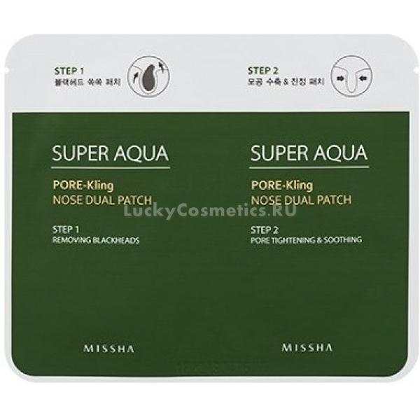 Купить Missha Super Aqua Pore Kling Nose Dual Patch