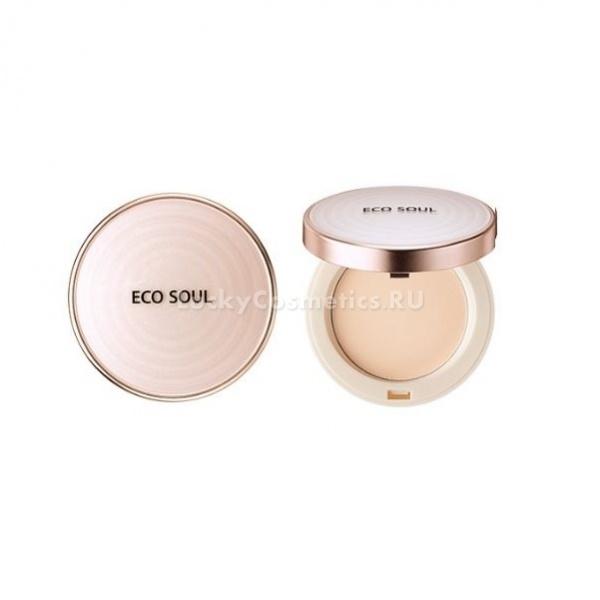 The Saem Eco Soul UV Sun Pact SPF PAПудра может быть не только средством декоративной косметики, но и защищать нашу кожу. Пудра от компании The Saem имеет высокий уровень защиты от ультрафиолета. Она подойдет для использования в любое время года.<br><br>Пудра серии Eco Soul имеет уровень защиты от ультрафиолета SPF50+ PA++++. Это обозначает, что кожа будет защищена от лучей различного спектра практически на 100%.<br><br>Пудру UV Sun Pact можно использовать каждый день и зимой и летом. Легкая текстура делает ее практически не ощутимой на коже, помогает аккуратно и незаметно замаскировать такие недостатки, как черные точки, покраснения, расширенные поры, жирный блеск.<br><br>Благодаря натуральным компонентам в составе (масла и экстракты растений) пудра не сушит кожу, а бережно ухаживает за ней в течение всего дня.<br><br>Палитра представлена такими оттенками:<br><br><br>светлый беж;<br>натуральный беж.<br><br><br>&amp;nbsp;<br><br>Объём: 11 гр.<br><br>&amp;nbsp;<br><br>Способ применения:<br><br>Наносить пудру следует на завершающем этапе макияжа. Наносить ее можно поверх тонального средства или на чистую кожу. Распределите ее по поверхности лица при помощи пуховки легкими мягкими движениями.<br>