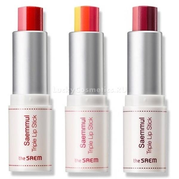 The Saem Saemmul Triple Lipstick -  Макияж