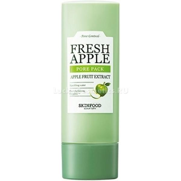 Skinfood Fresh Apple Pore PackПодарите своей коже насыщенный фруктовый салат из свежесобранных яблок с добавлением минеральной воды. Новейшая формула маски Fresh Apple Pore Pack от Skinfood окунет кожу в лето и насытит витаминами. Легкая текстура в сочетании с высокой проникающей способностью мгновенно питает и увлажняет сухую, восстанавливает – увядающую и успокаивает проблемную кожу. Многофункциональная формула средства защищает клетки от обезвоживания, дарит коже эластичность и упругость. Средство эффективно контролирует работу сальных желез, поддерживает физиологический уровень влажности и pH клеток. Натуральная растительная основа поможет увлажнить кожу до 24 часов, оставляя ее матовой и нежной.<br>Экстракт зеленых яблок чрезвычайно богат танином, который в свою очередь эффективно борется с расширенными порами, устраняет жирный блеск, защищает от негативного воздействия ультрафиолета и стрессов, усиливает процессы регенерации тканей, дарит коже более свежий и очищенный вид.<br>Минеральная вода из чистейших источников насыщает клетки минералами и микроэлементами, наполняет кожу живительной влагой, предотвращает шелушение и ощущение стянутости. Помогает минимизировать пагубное влияние холодного и пересушенного воздуха, насыщает клетки активными частицами кислорода и восстанавливает яркость кожного покрова.Объём: 78 мл.Способ применения:На очищенную кожу нанесите маску и оставьте до высыхания, примерно 20 минут. После чего смойте водой.<br>