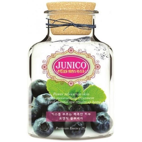 Mijin Cosmetics Junico Blueberry Essence MaskЭкстракт ягод черники &amp;ndash; главный из действующих ингредиентов маски, оказывающий противовоспалительное, тонизирующее, себорегулирующее и иммуномодулирующее действие.<br><br>Содержащиеся в ягодах флавоноиды защищают кожу от токсинов, свободных радикалов и ультрафиолета. Нутриенты &amp;ndash; витамины, минералы и комплекс полисахаридов и аминокислот &amp;ndash; включаются в клеточный обмен, нормализуют его. Фруктовые кислоты оказывают эксфолиирующее действие и слегка осветляют кожу.<br><br>Маска Blueberry Essence Mask также содержит комплекс растительных экстрактов, стимулирующих иммунитет и кислородный обмен кожи.<br><br>Мягкая материя тканевой основы маски приятна на ощупьь и не доставит неудобства, даже если у вас очень чувствительная кожа, а освежающий аромат ягод превратит уход за кожей в удовольствие.<br><br>&amp;nbsp;<br><br>Объём: 24 мл<br><br>&amp;nbsp;<br><br>Способ применения:<br><br>Слегка нагрейте маску до температуры тела &amp;ndash; для этого ее нужно продержать в теплой воде, пока она находится упаковке. Распечатайте пакет, расправьте маску, приложите ее к коже и тщательно разгладьте мельчайшие складочки. Спустя 15-20 минут снимите тканевую основу, а кремообразную пропитку вмассируйте в кожу лица и шеи.<br>