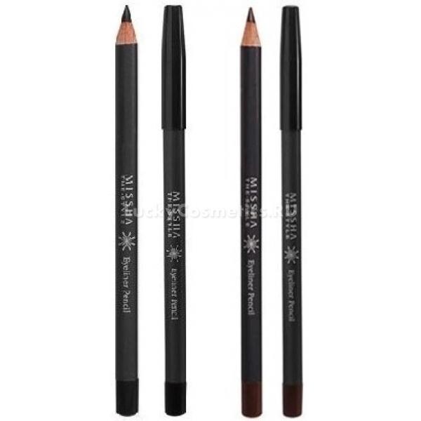 Missha The Style Eyeliner PencilПридать взгляду глубину и выразительность легко с контурным карандашом от Missha. В коллекции два универсальных оттенка &amp;ndash; черный (Black) и коричневый (Brown). Контур создавать легко, поскольку карандашный грифель имеет особую кремовую текстуру, которая позволяет провести ровную тонкую линию. Карандаш легко растушевать, а содержащийся в его составе натуральный карнаубский воск не позволяет ему размазываться и растекаться, сохраняя ваш идеальный макияж неизменным в течение долгого времени. Также в нем содержатся природные компоненты, питающие и защищающие кожу. Карандаш легко затачивается, не ломается и довольно экономичен.<br><br>&amp;nbsp;<br><br>Объём: 0,3 г<br><br>&amp;nbsp;<br><br>Способ применения:<br><br>Нанести карандашом линии на верхнее веко. Линию желательно начинать от внутреннего уголка к внешнему. На нижнее веко следует нанести контур у основания роста ресниц.<br>