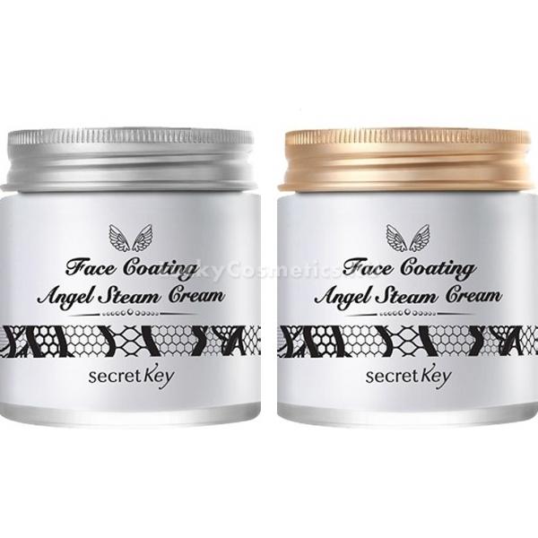 Secret Key Face Coating Angel Steam CreamЭтот крем для лица &amp;ndash; настоящий эликсир молодости и красоты вашей кожи! Благодаря множеству полезных компонентов и удивительной текстуре, средство позволит побаловать кожу любого типа витаминами и элементами, проникая в самые глубокие слои эпидермиса. Такой действие обеспечивается из-за уникальной паровой технологии крема, позволяющей смешать масла и воду, создавая крем легкой и воздушной консистенции, которая мгновенно впитывается в кожу. Ключевой компонент крема &amp;ndash; масло арганы, славящееся своим интенсивным питательным, восстанавливающим и антивозрастным действием. Его высокое содержание в продукте обеспечивает всестороннее улучшение состояния кожи. Помимо этого масла, состав содержит также и множество других полезных экстрактов: Гилауроновая кислота &amp;ndash; интенсивный увлажнитель, который наполняет все клетки эпидермиса достаточным количеством воды и разглаживает мимические морщинки; Морской коллаген останавливает процессы увядания кожи, возвращает ей гладкость, тонус и эластичность. Масла шиповника, миндаля, подсолнуха смягчают, питают, способствуют регенерации кожи, а также защищают от отрицательного влияния окружающих факторов. Ежедневное использование продукта позволяет вернуть коже гладкость, молодость, красоту и здоровье, а также избавиться от морщинок. Из 2 представленных кремов Face Coating Angel Steam Cream от Secret Key есть возможность выбрать продукт с любимым цветочным ароматом: Bulgarian Rose (1) / болгарская роза; Gardenia (2) / гардения.<br><br>&amp;nbsp;<br><br>Объём: 100 гр<br><br>&amp;nbsp;<br><br>Способ применения:<br><br>Средство следует наносить на лицо в небольшом количестве после умывания кожи легкими постукивающими движениями пальчиков в любое время суток.<br>