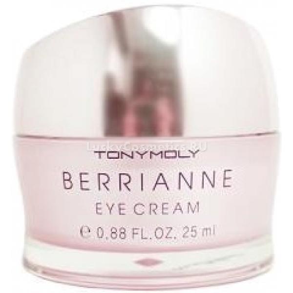 Tony Moly Berrianne Eye CreamВытяжка из клюквы, органическое масло оливы и термальная вода - ингредиенты, образующие уникальный тандем, обеспечивающий в формуле косметических средств особый бережный уход даже самой чувствительной, поистине требовательной коже.<br><br>Крем Berrianne Eye Cream от компании Tony Moly - это питающее, увлажняющее и оздоравливающее средство. С его помощью кожа вокруг глаз, обеспечивается необходимыми витаминами и аминокислотами, она подтягивается, а мелкие морщинки полностью разглаживаются. Кроме того, этот крем предотвращает появление так называемых гусиных лапок.<br><br>Экстракт клюквы, входящий в состав данного косметического продукта, обладает антиоксидантными возможностями, оздоравливает и насыщает дерму предельно полезными веществами. Он также быстро восстанавливает ее тонус, укоряет процессы клеточного обмена и надежно сохраняет влагу внутри. Кроме того, он борется с куперозом.<br><br>Масло оливы питательно. Оно также борется с образованием морщинок, насыщая кожу влагой и витаминами.<br><br>Вода, добытая из термальных источников, ускоряет метаболические процессы, происходящие в клетках, выводит токсины и хорошо увлажняет кожу. Можно с полной уверенностью утверждать, что именно термальная вода, содержащаяся в составе каких-либо косметических средств, делает их настоящими эликсирами красоты.<br><br>Используйте крем с экстрактом клюквы регулярно, и тогда ваш взгляд станет еще более светлым, и вы будете выглядить моложе и беззаботнее.<br><br><br><br>Объём: 25 мл<br><br><br><br>Способ применения:<br><br>Данный крем наносится только лишь на кожу вокруг глаз. Следует мягко вбивать его пальцами.<br>