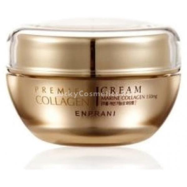 Enprani Premier Collagen CreamДанный крем является великолепным ухаживающим средством для кожи, на которой уже проявились начальные признаки увядания. Он обладает быстровпитываемой консистенцией, которая не оставляет ощущения неприятной пленки на лице. Основа состава крема – морской коллаген. Коллаген является строительным белком клеток эпидермиса, однако его выработка сокращается после 25 лет. Включение его в состав обеспечивает восстановление кожи на клеточном уровне, а также увеличение ее эластичности, тонуса и сокращение морщинок. Продукт обогащен гиалуроновой кислотой, что благоприятствует интенсивному увлажнению эпидермиса даже в самых его глубочайших слоях, избавлению от проблем обезвоженности и сухости, а также продлению молодости кожи. Регулярное применение продукта позволит не только избавиться от уже имеющихся признаков увядания кожи, но и предотвратит их дальнейшее образование, а также разгладит имеющиеся морщинки и подтянет овал лица. Роскошные питательные свойства продукта позволят комплексно восстановить кожу, придать ей ухоженный и здоровый вид. Сохранение молодости – это возможно, благодаря данному крему от корейского бренда Enprani!Объём: 50 млСпособ применения:Продукт требуется наносить на очищенную кожу с помощью аккуратных движений пальчиками.<br>