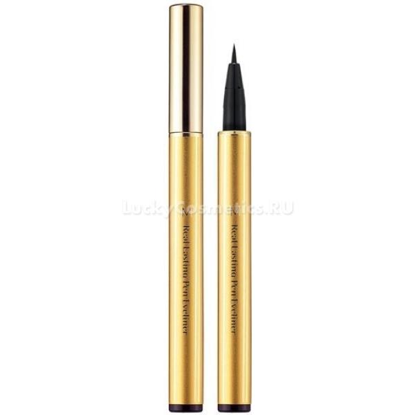 Missha M Real Lasting Pen EyelinerЭтот карандаш-подводка предельно прост в применении. Нарисовать им четкую и ровную линию вы сможете без особых проблем, и все благодаря уникальному гибкому аппликатору. Этот чудесный карандаш предлагают косметологи Missha, а название его M Real Lasting Pen Eyeliner.<br><br>Идеальная черная линия подводки &amp;ndash; то, чего вы сможете добиться с использованием этого средства. При этом карандаш не сотрется и не стечет с века в течение всего дня, даже если у вас жирная кожа. Но не бойтесь его использовать, ведь удалить макияж вы сможете своим привычным и любимым средством.<br><br>Мягкий и гибкий фетровый аппликатор позволит подчеркнуть невероятную красоту ваших глаз, не затрачивая на это очень много времени. И таким образом, утром вы сможете поспать чуть подольше. И все благодаря Missha.<br><br>&amp;nbsp;<br><br>Объём: 0,8 г<br><br>&amp;nbsp;<br><br>Способ применения:<br><br>Начните наносить линию с середины глаза и делайте это у кромки роста ресниц. Проводите аккуратную стрелку к внешнему уголку глаза. Повторите все то же, но теперь начиная с внутреннего уголка.<br>