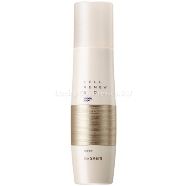 The Saem Cell Renew Bio TonerТонер для лица от корейского бренда The Saem с фитостволовыми клетками разработан для ухода за возрастной кожей. Средство помогает вернуть лицу ухоженный здоровый внешний вид, избавляет от первых признаков старения. Оно способствует стремительной регенерации клеток, подтягивает и увлажняет кожный покров.<br><br>Использование тонера – это важный этап ежедневного ухода. Продукт с мощным омолаживающим эффектом превосходно очищает кожу от ороговевшего слоя и подготавливает ее к дальнейшему нанесению средств.<br><br>Состав косметического средства также содержит минеральную воду, аденозин и витамин B3. Эти компоненты насыщают кожу полезными элементами, способствуют ее очищению от токсинов и шлаков, успокаивают и освежают ее. Богатый комплекс активизирует процессы восстановления клеток, избавляет от нежелательной пигментации и защищает от потери влаги.<br><br>Тонер профессионально завершает процесс очищение кожи, не оставляет после себя липкости. Кожа остается матовой и невероятно мягкой. Отличается средство легким запоминающимся ароматом.<br><br>Флакончик тонера выполнен в стильном дизайне. Его мягкие формы и цвета украсят любой туалетный столик.Объём: 150 млСпособ применения:После умывания смочите ватный диск тонером и протрите им кожу лица от центра к внешним линиям.<br>