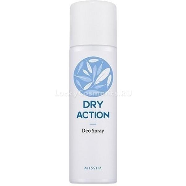 Missha Dry Action Deo SprayДезодорант в форме спрея удобно применять для освежения ступней и подмышек, его деликатная формула не только эффективно устраняет неприятные запахи, но и ухаживает за кожей. Так, ниацинамид в составе средства позволяет осветлить кожу в подмышечной области, которая могла стать темной из-за возрастных изменений или раздражающего действия трения одежды.<br><br>Другие полезные компоненты &amp;ndash; ментол и лимонный экстракт оказывают тонизирующее воздействие и предотвращают возникновение неприятных запахов в дальнейшем.<br><br>&amp;nbsp;<br><br>Объём: 100 мл<br><br>&amp;nbsp;<br><br>Способ применения:<br><br>Дезодорант-спрей подходит для ежедневного использования, блокируя все неприятные запахи. Его можно применять в зоне подмышек, не только чтобы убрать аромат пота, но и для профилактики потемнения нежной кожи в этой зоне. Кроме того, спрей гораздо удобнее использовать для дезодорирования ног, чем средства в форме стика. Дезодорант распыляют с расстояния 15 сантиметров, чтобы он равномерной дымкой осел на коже. Делать это нужно после душа, но не сразу, а как только кожа высохнет.<br>