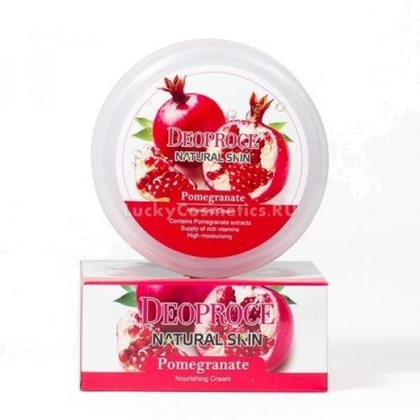 Питательный крем для лица и тела с гранатом  Deoproce Natural Skin Pomegranate Nourishing Cream