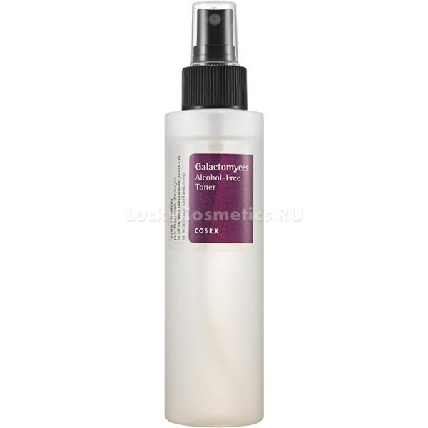 CosRX Galactomyces AlcoholFree TonerGalactomyces Alcohol-Free Toner &amp;minus; средство для завершающего этапа очищения, на 10% состоящее из фильтрата винных дрожжей Galactomyces. Тонер будет полезен для ухода за кожей любого типа, но особенно актуален &amp;minus; для чувствительной, сколонной к сухости, шелушению, аллергическим реакциям, так как его состав не содержит спирт, парабены, фталат, искусственные красители и ароматизаторы, триэтаноламин.<br><br>Galactomyces работают по нескольким направлениям:<br><br><br>лифтинг;<br>удаление отмерших клеток;<br>регенерация;<br>осветление;<br>повышение биодоступности сопутствующих компонентов.<br><br><br>Дополняет действие дрожжей минеральная вода, гиалуроновая кислота, пантенол, бетаин, аллантоин, экстракт кассии туполистной. Ингредиенты хорошо проникают в клетки, насыщая их необходимыми питательными веществами и оптимизируя течение важных процессов в коже.<br><br>&amp;nbsp;<br><br>Объём: 150 мл<br><br>&amp;nbsp;<br><br>Способ применения:<br><br>После демакияжа и умывания протереть лицо смоченной тонером салфеткой.<br>