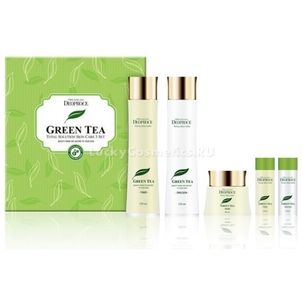 Deoproce Premium Greentea Total Solution  Set