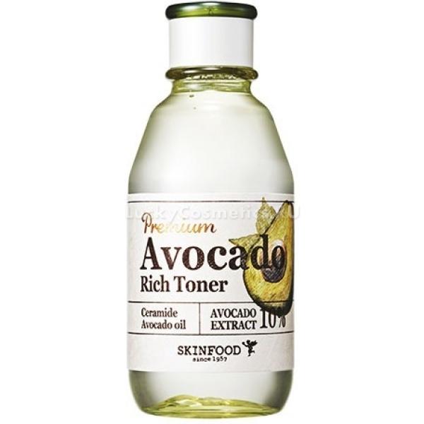 Тоник для увлажнения и питания сухой и обветренной кожи Skinfood Premium Avocado Rich Toner