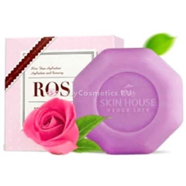 The Skin House Rose Heaven SoapПорадуйте свою кожу изысканным цветочным очищением и глубоким ароматом. Мыло Rose Heaven Soap не только превосходно очищает поверхность кожи, но и интенсивно питает и увлажняет ее.<br>Продукт от корейского бренда The Skin House содержит уникальные целебные ингредиенты, благодаря которым, кожа становится нежной и упругой. А густая пена, создаваемая во время мытья, порадует вам легким цветочным ароматом и кремовой текстурой. Мыло с экстрактом лепестков розы позволит начать день с хорошего заряда энергией, и расслабиться вечером после трудового дня. Легкое благоухание розы будет сопровождать вас в течение дня и не даст впитываться в кожу посторонним запахам. Кроме того, средство не нарушает естественный уровень влажности, не сушит и не стягивает кожу, предотвращает ее шелушение.Объём: 90 гр.Способ применения:Вспеньте средство при помощи мочалки и очистите кожу от загрязнений.<br>