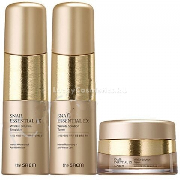The Saem Snail Essential EX Wrinkle Solution Skin Care Set -  Улиточная косметика