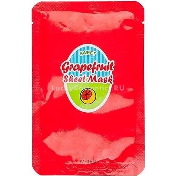 Apieu Grapefruit And Sparkling Sheet Mask