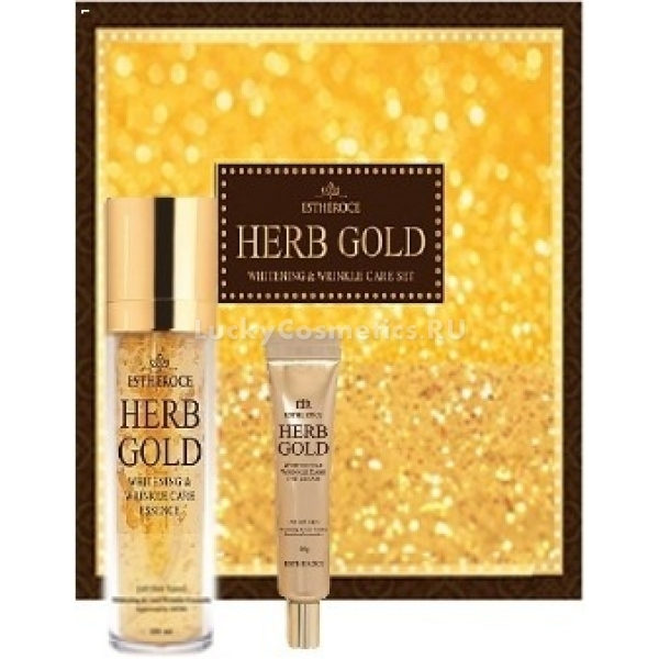Deoproce Estheroce Herb Gold Whitening And Wrikle Care Essence Eye Cream Special Set