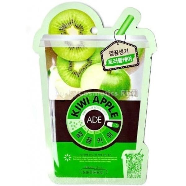 Тканевая маска Mediheal Kiwi Apple MaskТканевая маска на основе хлопчатобумажного волокна пропитана экстрактом киви (actinidia Chinensis Fruit)и яблока (25мг.).Волокна ткани плотно прилегают к коже и не дают ценным экстрактам испаряться. При этом маска хорошо пропускает воздух и позволяет коже дышать.Экстракт киви содержит витами С, аминокислоты и фруктовые кислоты, которые увлажняют кожу, активируя обменные процессы в клетках, а экстракт яблока витаминизирует и освежает кожу.<br>Входящие в состав ингредиенты, обеспечат кожу необходимыми витаминами, освежат её и сохранят чистой и нежной. Эффект от применения маски вы увидите мгновенно!<br>Способ применения:Достаньте маску из упаковки, снимите защитное покрытие и нанести на 15-20 минут на очищенную и подготовленную кожу.<br>