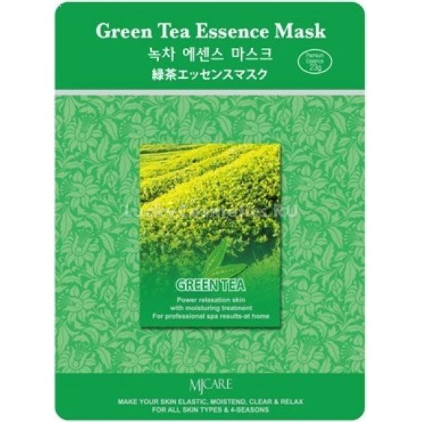Mijin Cosmetics Green Tea Essence MaskМаска на тканевой основе Green Tea Essence Mask с экстрактом из листьев зелёного чая от Mijin Cosmetics избавит вашу кожу от раздражений и воспалений, ускорит скорость кровообращения в капиллярах и защитит от свободных радикалов.<br><br>В зелёном чае содержатся:<br><br><br>танины, укрепляющие сосуды и придающие упругость коже;<br>изобилие кофеина усиливает микроциркуляцию крови, благодаря чему происходит регуляция водно-солевого баланса &amp;mdash; так сходит отёчность и улучшается цвет лица;<br>полифенолы являются сильными антиоксидантами и помогают клеткам кожи избавиться от токсинов, длительное время ухудшающих их способности обновляться и регенерировать.<br><br><br>В составе эссенции экстракт зелёного чая быстро проникает в эпидермис и надёжно помогает успокоить кожу, повысить защитные свойства иммунитета и предотвратить возможное появление воспалений.<br><br>&amp;nbsp;<br><br>Объём: 23 г<br><br>&amp;nbsp;<br><br>Способ применения:<br><br>Чтобы усилить кровообращение и, соответственно, скорость транспорта активных веществ, нагрейте маску в тёплой (но не выше 50 градусов) воде прямо перед использованием. Маску необходимо положить на очищенное предварительно лицо и разгладить чистыми пальцами, чтобы оставить на 15-20 минут. Помассируйте лицо, чтобы улучшить эффект применения маски, и затем снимите её. После умойтесь простой тёплой водой.<br>