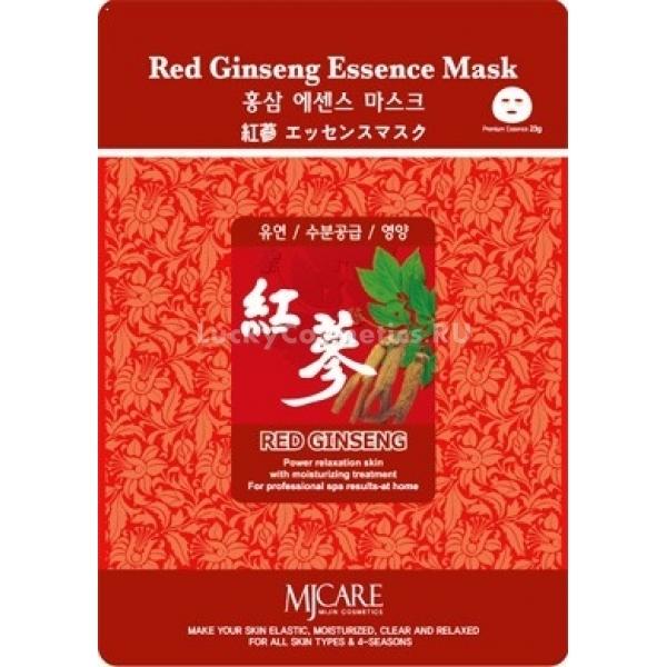 Mijin Cosmetics Red Ginseng Essence MaskАдаптационная маска Red Ginseng Essence Mask с экстрактом красного женьшеня от Mijin Cosmetics поможет коже вашего лица приспособиться к тяжёлым условиям и вернуть ему здоровый вид. Благодаря пролонгированному действию нет необходимости в ежедневном уходе за кожей &amp;mdash; чтобы она чувствовала поддержку растительных экстрактов, активных веществ и витаминов, достаточно раз в 3 дня совершать несложную процедуру.<br><br>Экстракт женьшеня &amp;mdash; известный адаптоген, стимулирующий запуск механизмов защиты организма от воздействий окружающей среды и микробов. Вследствие его влияния утомлённая кожа освежается и улучшается кровообращение. Экстракты гамамелиса и корня солодки, а также аллантоин с витаминами С и Е успокаивают раздражения и предотвращают воспаления, дополняя этим эффект от женьшеня.<br><br>&amp;nbsp;<br><br>Объём: 23 г<br><br>&amp;nbsp;<br><br>Способ применения:<br><br>Для улучшения проводящих качеств кожи во время процедуры нагрейте маску в упаковке с помощью тёплой воды или фена. Перед использованием не забудьте очистить лицо тонером. Чистыми руками извлеките ткань из конверта и положите маску на лицо, затем оставьте на 20 минут. После снимите её и умойте лицо простой водой.<br>