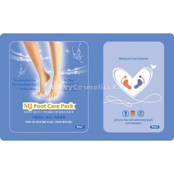 Mijin Cosmetics Foot Care PackДевушки, начинающие знакомство с корейской косметикой, уже успели оценить пилинговые носочки для ног. А бренд Mijin Cosmetics представляет еще одно инновационное средства – маска Foot Care Pack с гиалуроновой кислотой. Это средство выпускается в виде упаковки носочков, пропитанных оздоравливающими и питательными компонентами, что облегчает использование. Ведь в носочках сидеть гораздо удобнее, чем густым слоем накладывать средство и долго ожидать пока оно впитается, рискуя испачкать постель.<br><br>Гиалуроновая кислота – основной ухаживающий ингредиент, а кожа ступней нуждается в таком уходе едва ли не больше любых других участков тела. Регулярное применение такой маски препятствует возникновению трещин и мозолей на пятках, облегчает уход за кожей после пилинга.<br><br><br><br>Объём: 23 г<br><br><br><br>Способ применения:<br><br>На чистые ступни натяните носочки (сразу же после того, как откроете упаковку, чтобы жидкость, которой они пропитаны, не испарилась). Помассируйте ноги через тканевые носки, чтобы полезные компоненты не просто соприкоснулись с кожей, но быстрее впитались в нее. Делайте это в течение пятнадцати минут, после чего снимите носочки и ожидайте еще пятнадцать минут до полного впитывания средства.<br>