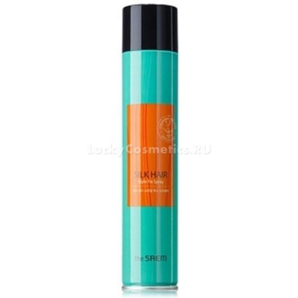 Лак с аргановым маслом The Saem Silk Hair Style Fix SprayЛак должен не только хорошо фиксировать укладку, но и не вредить здоровью волос. Style Fix Spray от Hair Style отлично выполняет свою функцию, при этом он защищает ваши волосы от вредного воздействия ультрафиолета, успокаивает и оздоравливает чувствительную кожу головы благодаря содержанию экстракта ромашки и лаванды, придает сияние и упругость.<br><br>Один из главных действующих ингредиентов &amp;ndash; масло дерева аргана, которое восстанавливает волос по всей длине, питает его фолликул и придает блеск и силу. Зеленый чай и шалфей снабжают волосяную луковицу витаминами и минералами, а экстракт алоэ-вера оказывает антисептическое действие на кожу головы.<br><br>&amp;nbsp;<br><br>Объём: 300 мл<br><br>&amp;nbsp;<br><br>Способ применения:<br><br>Распылите немного средства у корней на слегка влажные волосы и подсушите их феном (холодным воздухом) &amp;ndash; это придаст волосам объем и пышность. Для фиксации прически спрей распыляется на расстоянии 15-20 сантиметров от волос. Если вы завиваете волосы на бигуди или папильотки, плетете косы перед сном, обработайте лаком слегка влажные волосы &amp;ndash; наутро, после того как вы расплетете косу или снимите бигуди, волосы будут сиять и лежать красивыми локонами.<br>