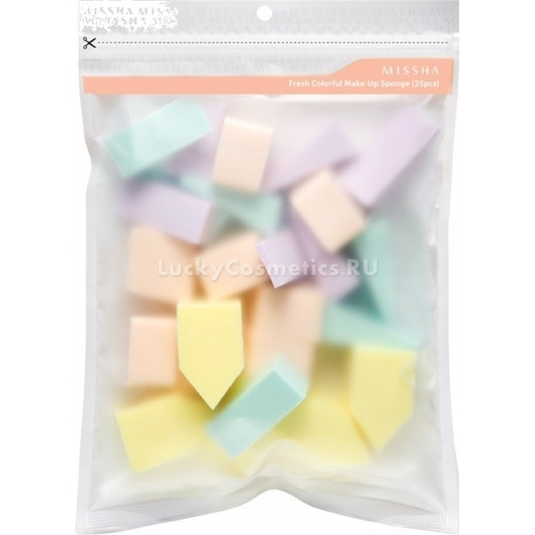 Missha Fresh Colorful Makeup Sponge  pcs