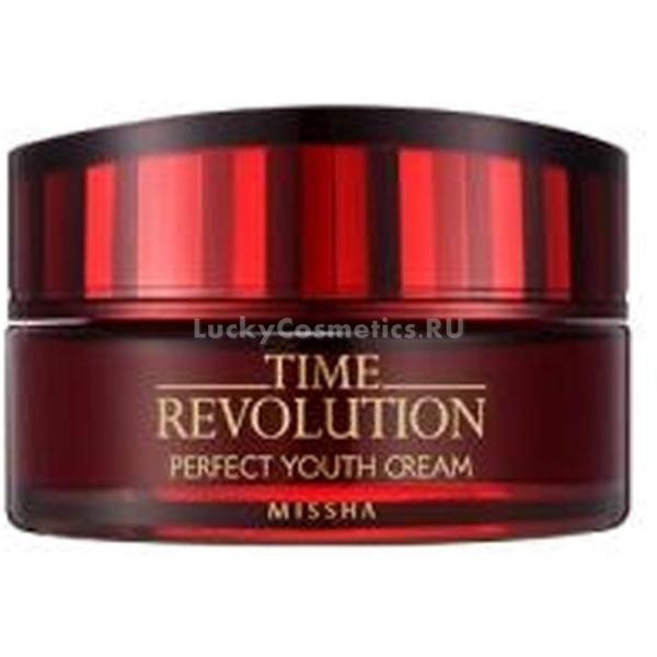 Missha Time Revolution Perfect Youth CreamПитание – ключевой элемент в уходе за зрелой кожей, которая склонна к пересушиванию, обезвоживанию и образованию морщин. Бренд Missha создал уникальный продукт, эффективность которого обеспечивается включением в его состав большого количества лактобактерий. Они позволяют оказывать максимальное питательное воздействие на кожу, повышают ее сопротивляемость к условиям отрицательных факторов окружающей среды. Крем Time Revolution Perfect Youth Cream оказывает прекрасное бактерицидное и успокаивающее действие на кожу, в результате его длительного использования происходит регуляция кислородного обмена во всех слоях эпидермиса. Средство обладает комплексным антивозрастным действием, что позволяет сократить количество морщинок, а цвет лица приобретает равномерный оттенок. Кожа становится бархатистой, мягкой и сияет здоровьем!Объём: 70 млСпособ применения:Продукт следует наносить на лицо в небольшом количестве после умывания кожи легкими постукивающими движениями пальчиков в любое время суток.<br>