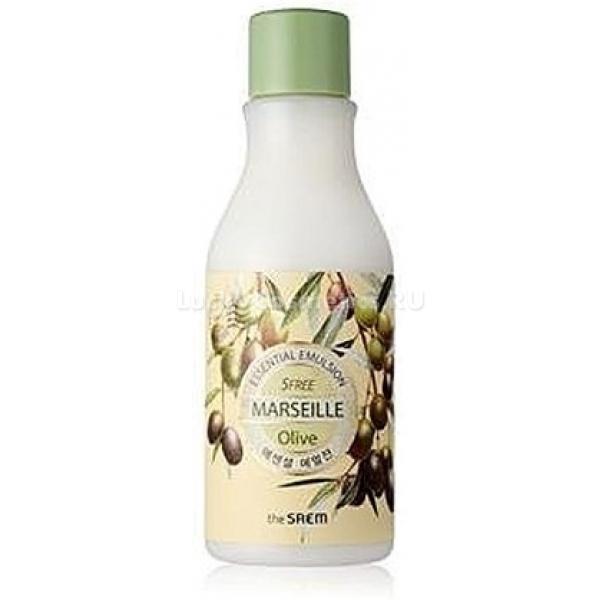 The Saem Marseille Olive Essential EmulsionОливковая эмульсия с нежной структурой увлажнит кожу, сделает ее мягкой и бархатистой. К тому же, подарит чувство свежести и устранит сухость.<br>В составе содержит природные компоненты.<br>В качестве антиоксиданта выступает олива, которая борется с воздействием на кожу ультрафиолета и температур. Масла камелии и макадами способствуют омолаживанию, разглаживают морщины и тонизируют кожу. С воспалительными процессами борется экстракт портулака, он заживляет микротрещины и снимает раздражение.<br>Керамиды, на 40 процентов входящие в состав самого эпидермиса, также есть в эмульсии. Их воздействие благоприятно сказывается на состоянии кожи, возвращается эластичность и мягкость, разглаживаются морщины, кожа становится бархатистой.<br>Эмульсия  для лица не вызовет аллергии даже у самой чувствительной кожи.Объём: 200 млСпособ применения:Нанести на чистую кожу легкими движениями.<br>