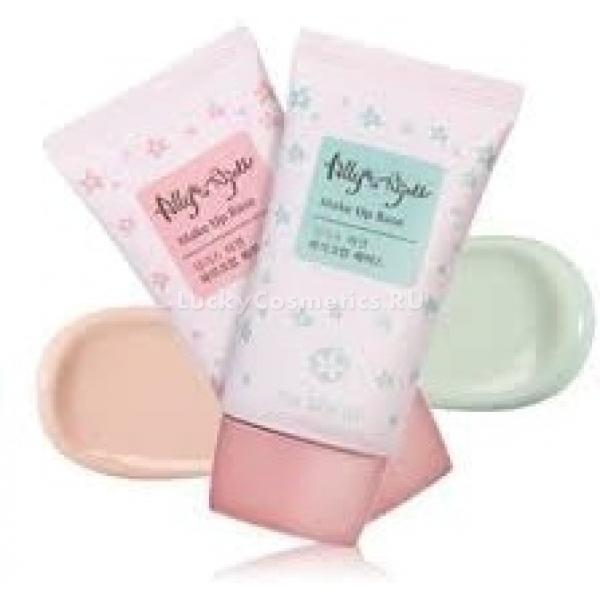 The Saem Allys Ajell Make up BaseБаза-праймер для макияжа совмещает в себе два свойства: она отлично подготавливает кожу к нанесению косметических средств, выравнивая ее микрорельеф, а также увлажняет и смягчает верхние слои эпидермиса. Меняет тусклый бледный цвет лица на сияющий здоровьем естественный розовый тон.<br><br>Тающая текстура базы не утяжеляет даже жирную кожу, быстро впитывается и дает моментальный визуальный эффект разглаживания мелких неровностей и морщинок. Поверх праймера любой ББ-крем держится в 1,5 раза дольше и выглядит натуральнее, лучше маскирует недостатки. Праймер можно использовать и как самостоятельное средство для кожи без акне и воспалений. Он делает расширенные поры незаметными и корректирует шелушащиеся участки кожи.<br><br>Выпускается в двух вариациях &amp;ndash; розовая база освежает цвет лица, а зеленая маскирует покраснения.<br><br>&amp;nbsp;<br><br>Объём: 35 мл<br><br>&amp;nbsp;<br><br>Способ применения:<br><br>Небольшое количество базы разогрейте в ладонях и похлопывающими движениями распределите по лицу. Для облегчения нанесения и контроля над толщиной и равномерностью слоя можно использовать спонж-каплю, слегка смоченный водой. Поверх базы можно наносить ББ-крем и пудру, а можно обойтись без декоративной косметики &amp;ndash; кожа после базы приобретает ровный цвет с нежной розовинкой и естественное сияние. Смывать теплой водой с пенкой для умывания, предварительно обработав лицо молочком для снятия макияжа.<br>