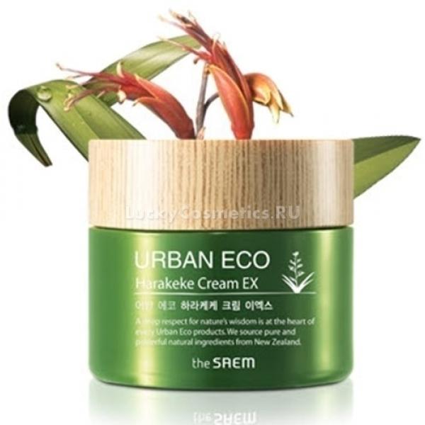 The Saem Uraban Eco Harakeke Cream EXValue upHarakeke Cream EX обладает пролонгированным питательным эффектом. Данный продукт также оказывает превосходное успокаивающее действие, отлично смягчает и тонизирует кожу. Отличается незабываемым ароматом природной свежести. Питательный крем с экстрактом льна-харакеке сохраняет здоровье в глубинных слоях кожи. Экстракт имеет хорошую влагоемкость, обладает интенсивной восстанавливающей и укрепляющей хрупкие капилляры функцией.<br>В состав крема входит мед мануки, богатый на протеины, аминокислоты, витамины групп С и D, которые необходимы для здоровья кожного покрова. В экстракте меда содержится много ферментов, различных минералов и органических кислот. Благодаря этому, экстракт прекрасно увлажняет и питает эпидермис, нормализует водно-солевой обмен в клетках, оказывает отличное очищающее действие.<br>Экстракт календулы в составе питательного крема оказывает мощное антисептическое и противовоспалительное действие.<br>Масло кокоса славится высоким содержанием липидов, фруктовых кислот и протеинов. Эти элементы крема незаменимы для ухода за чувствительной кожей. Они стимулируют защитные функции кожи и ее быструю регенерацию. Придают коже эластичность и шелковистость.Объём: 60 млСпособ применения:Крем наносится пальпируемыми движениями на заключительном этапе ухода.<br>