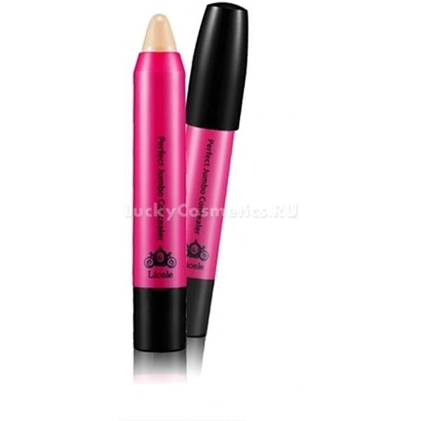 Lioele Jumbo Perfect ConcealerКонсилер-карандаш с кремовой текстурой &amp;ndash; это идеальное средство для точечной маскировки несовершенств, простое в использовании, не травмирующее кожу и абсолютно незаметное на ней сразу после растушевки и усадки.<br><br>В составе консилера &amp;ndash; пудра из кораллов и перламутра, обладающая светоотражающими свойствами, что обеспечивает дополнительный маскирующий и разглаживающий эффект без стягивания и утяжеления кожи. Консилер можно использовать не только чтобы спрятать воспаления, темные круги и куперозные звездочки, но и как основу для макияжа, праймер для губ и век.<br><br>&amp;nbsp;<br><br>Объём: 18 г<br><br>&amp;nbsp;<br><br>Способ применения:<br><br>Нанесите консилер точечно на чистую кожу в месте акне, застойного пятна или на участок повышенной пигментации, растушуйте пальцем или кистью и закрепите финишной пудрой, после чего, если проблемный участок все еще заметен, нанесите повторный слой средства.<br><br>Для использования консилера на губах в качестве праймера, аккуратно прорисуйте карандашом их контур, и, продвигаясь от края к середине, растушуйте средство. После этого можно нанести тинт, губную помаду или блеск.<br><br>Для маскировки темных кругов высветлите консилером область под глазами и, после тщательной расушевки, зафиксируйте его пудрой.<br>