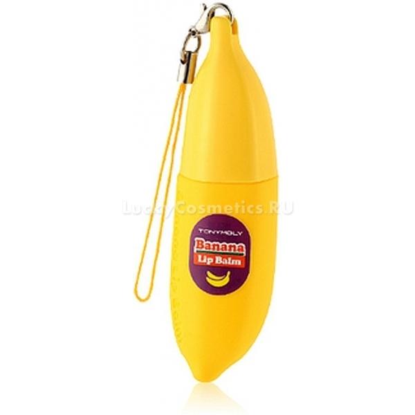 Tony Moly Delight Dalcom Banana Pongdang Lip BalmБанановый взрыв для губ всего в одном маленьком флакончике с бесцветным бальзамом от Tony Moly. Сочный вкус спелого банана день за днем будет дарить вам отличное настроение, а ухаживающий комплекс в составе бальзама, состоящий из экстрактов банана и молочного белка, предотвратит повреждения кожи губ. Банановый экстракт как главный действующий компонент, действует невероятно эффективно, поэтому быстро борется с трещинами, питает клетки и обеспечивает непревзойденную гладкость ваших губ. Молочный белок способствует более быстрому обновлению клеток, регулирует обмен веществ в тканях, увеличивает долю коллагена, борется с воспалительными очагами, снимает раздражения и защищает от обезвоживания. Применяя бальзам каждый день, вы подарите своим губкам нежную мягкость, гладкость и красоту. Флакон бальзама выполнен в форме яркого банана с подвеской, который не только удобно брать с собой, но и можно преподнести в подарок подруге.<br><br>&amp;nbsp;<br><br>Объём: 7 г<br><br>&amp;nbsp;<br><br>Способ применения:<br><br>На сухую кожу губ нанести бальзам в один-два слоя.<br>