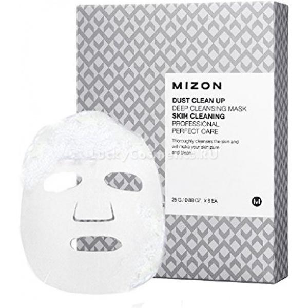 Mizon Dust Clean Up Deep Cleansing MaskОчищающая эссенция на основе масла семян моринги имеет удивительное свойство образовать мягкую очищающую пену при простом контакте с кожей. Для этого не нужно распределять ее по лицу, взбивать или смешивать с водой. Достаточно лишь приложить тканевую маску, пропитанную эссенцией, к коже и подождать несколько минут. За этот время действующие компоненты средства глубоко очистят поры, снимут воспаления, деликатно отшелушат ороговевший слой эпидермиса и улучшат микроциркуляцию.<br><br>Масло семян моринги в качестве ухаживающего ингредиента оказывает омолаживающее, успокаивающее и восстанавливающее воздействие. Оно удаляет загрязнения из пор и подавляет рост болезнетворных бактерий.<br><br>&amp;nbsp;<br><br>Объём: 25 гр<br><br>&amp;nbsp;<br><br>Способ применения:<br><br>На обработанную тоником лицо положить маску. Устранить пузыри воздуха и обеспечить плотное прилегание салфетки к коже. Подождать 3-7 минут, затем снять маску и смыть пену водой.<br>