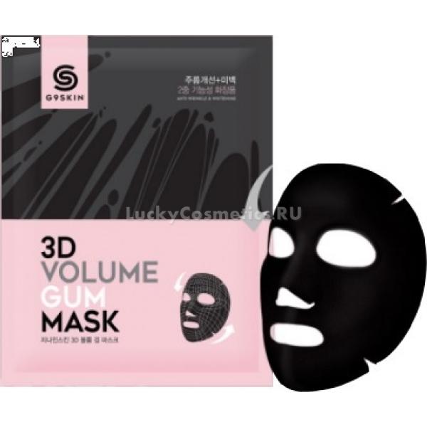 Berrisom G D Volume Gum MaskМаска G9 3D Volume Gum дарит коже комфортный и эффективный уход благодаря легкой шелковистой текстуре и сыворотке с пятью активными ингредиентами:<br><br><br>коллаген;<br>витамин B3;<br>вытяжка центеллы азиатской;<br>масло ши;<br>керамиды.<br><br><br>Коллаген восстанавливает целостность соединительной ткани дермы, которая отвечает за упругость и подтянутость кожи. В составе сыворотки он находится в гидролизованной форме, благодаря чему легко проникает через роговой слой и активно усваивается клетками.<br><br>Витамин B3 улучшает эластичность кожных покровов, держит в норме ее естественный водный баланс и снижает вредное воздействие солнечного ультрафиолета.<br><br>Вытяжка из азиатской центеллы наполняет кожу необходимыми для ее здоровья и красоты витаминами K, B, E и A.<br><br>Масло ши смягчает, увлажняет и оказывает антиоксидантное воздействие на кожные покровы.<br><br>Керамиды укрепляют защитный барьер эпидермиса, который ограждает его от таких неблагоприятных внешних факторов, как резкое снижение температуры воздуха, токсические соединения и аллергены.<br><br>&amp;nbsp;<br><br>Объём: 150 гр<br><br>&amp;nbsp;<br><br>Способ применения:<br><br>Вскрыть индивидуальное саше непосредственно перед применением. Развернуть маску и аккуратно перенести ее на тщательно очищенную кожу. Подождать 20 минут и снять. Помочь впитаться остаткам сыворотки легкими похлопываниями подушечками пальцев.<br>