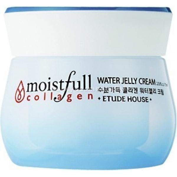 Etude House Moistfull Collagen Water Jelly CreamКоллагеновый крем от азиатской компании Etude House станет вашим любимцем среди увлажняющих средств по уходу за лицом. Этот косметический beauty-продукт с щедрым витаминным составом способен вернуть вашей коже свежесть и красоту.<br><br>Коллаген в составе формулы защищает кожу от деформирования, делает ее невероятно упругой и эластичной. Белок не только наполняет ткани целебной влагой, но и поддерживает их постоянную увлажненность. Фруктовые кислоты действуют как мягкий эксфолиант. Экстракт семян баобаба активизирует клеточное дыхание, возвращает здоровый цвет коже, избавляет от покраснений. Аденозин отвечает за регуляцию окислительно-восстановительных процессов в тканях.<br><br>Нейтральный аромат крема быстро выветривается. Приятная желеобразная консистенция не оставляет на лице тяжелой пленки. Коллагеновый крем &amp;ndash; верный шаг на пути к быстрому возрождению красоты кожи.<br><br>&amp;nbsp;<br><br>Объём: 72 мл<br><br>&amp;nbsp;<br><br>Способ применения:<br><br>Крем нанесите на лицо и шею по массажным линиям. Ладонями прикройте лицо и дождитесь полного впитывания средства.<br>