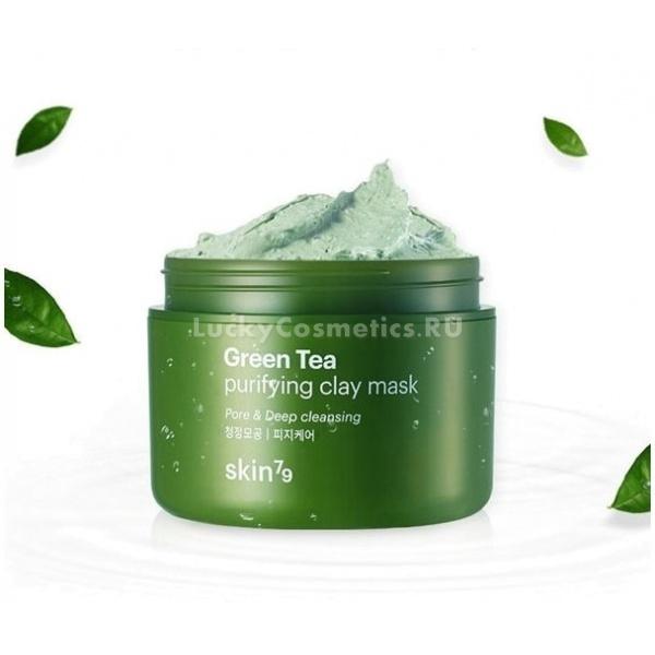 Skin Green Tea Purifying Clay MaskGreen Tea Mask - глиняная маска от бренда Skin79. Она предназначена для воздействия на всё лицо и избавления от многих видимых проблем. Так, маска поможет насытить кожу влагой, разгладить ее, очистить как снаружи, так и изнутри. Purifying Clay - это продукт, который проникает в глубокие слои и действует на кожу прямо оттуда. За счёт этого подтягиваются и очищаются поры, усиливается регенерация, кожа становится свежей, чистой и сияющей.<br>Ещё один важный компонент маски - зелёный чай, который оказывает успокаивающий, очищающий, защитный и тонизирующий эффект. Также он быстро избавляет от воспалений, шелушений и покраснений.<br>Аргановое масло в составе продукта хорошо питает и смягчает кожу, а цветочные экстракты тонизируют и придают лицу свежий вид.Объём: 95 мл.Способ применения:Умыть лицо и нанести маску в один слой, избегая области вокруг глаз. Оставить на коже до 15 минут, а затем смыть водой или убрать влажными салфетками.<br>